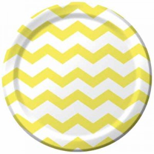 yellow-chevron-dots-9inch-plate-423266
